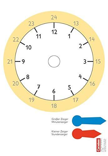 Super M - Mathematik für alle - Zu allen Ausgaben - 1./2. Schuljahr: Uhr - Kartonbeilagen - 10 Stück im Beutel
