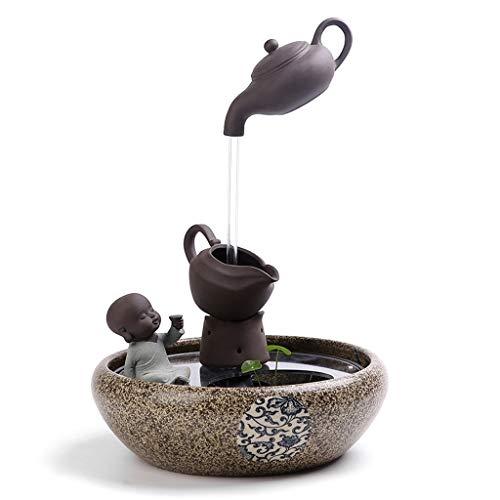 Fontane da interno decorative Fontana da tavolino di Feng Shui dell'umidificatore creativo del carro armato di pesce di zen della fontana della fontana di rilassamento dell'interno della fontana Zen F