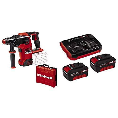 Einhell Martillo perforador con batería HEROCCO 36/28 Power X-Change + Einhell Kit de iniciación PXC 2 x 3.0 Ah y el kit de cargador doble
