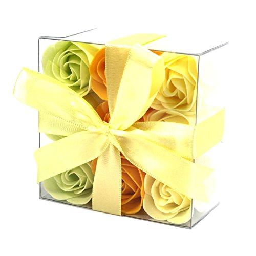 Seifen in Rosen-Form – Frühlings-Rosen – 9 Stück
