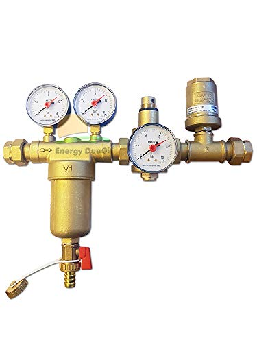 Eurokit Hydraulik-Set aus Messing bestehend aus selbstreinigendem Filter, Druckminderer, Luftentfeuchter