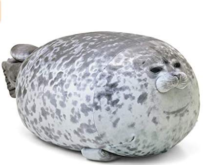 Chubby Seal Pillow, Seal pillow plush Cotton Plush Animal Toy, Cute Ocean Pillow Pets Grey, Plush Pillow, 60CM /23.6IN Seal Plush Pillow, Blob Seal Pillow, Chonky Seal Pillow,Plush Seal Pillow