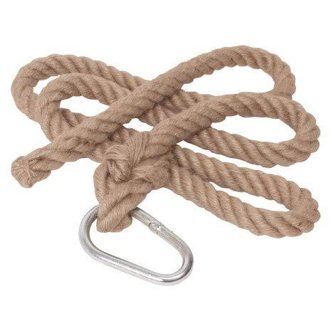 Woudi® Kletterseil 2m ohne Knoten, natürliches Material, mit Sicherungsring, ab 3 Jahren