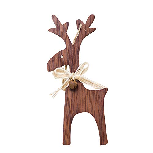 CHMORA - Decorazione per albero di Natale, 1 pezzo, in legno di cervo per albero di Natale, decorazioni fai da te per feste di Natale, cene, giardino all'aperto