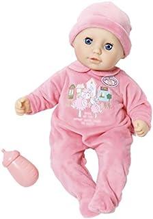 BABY Born Zapf Creation - My First Baby Annabell weiche Babypuppe mit Schlafaugen, pinkem Strampler und Mütze, inklusive Trinkfläschchen, geeignet ab 12 Monaten, rosa, 36 cm