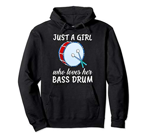 Damen Just A Girl Who Loves Her Bass Drum Basstrommeln Pullover Hoodie
