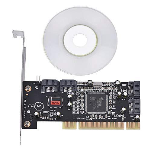 Bewinner PCI-zu-SATA-RAID-Karte mit 4 Anschlüssen PCI-Express-zu-SATA-Sil3114-Chipsatz-RAID-Controller-Kartenadapter mit 1,5 Gbit/s Unterstützung für 4 Festplatten