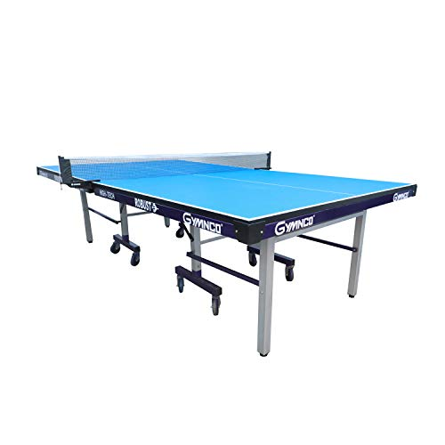 Gymnco Robust High Tech Table Tennis Table with 25 mm Top and 100 mm Stopper Wheel (Free TT Table Cover + 2 TT Racket & Balls)