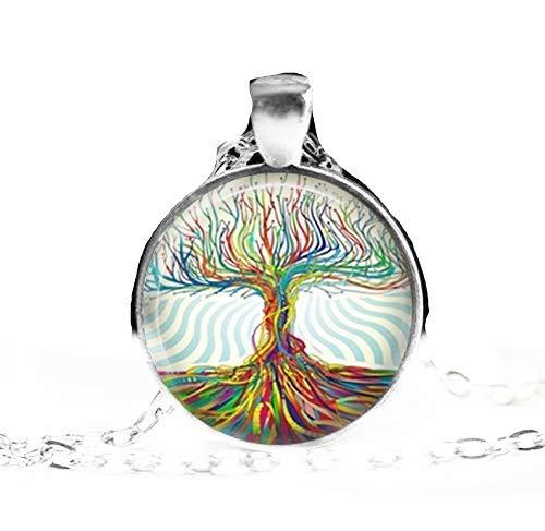 Heng Yuan tian Cheng, árbol de la vida, colgante de árbol de la vida, joyería de árbol, colgante de árbol, árbol con raíces