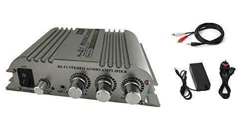 Mini Amplifier Hi-Fi 2.1 CH Class D Stereo Amplifier Amp 2x40W Aluminium...