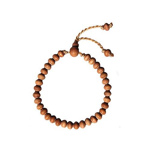 naturally-dyed Stigi ferro legno preghiera perline 99-bead con 2/divisori e marrone scuro nappe