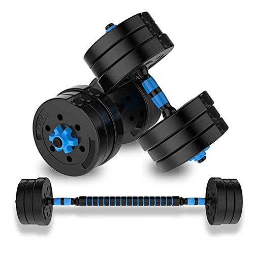 Mancuernas Ajustable Juego De Barra Ambiental Equipo De Ejercicio Hogar para Hombres Silencio Fitness En El Hogar (Color : Blue, Size : 15kg)