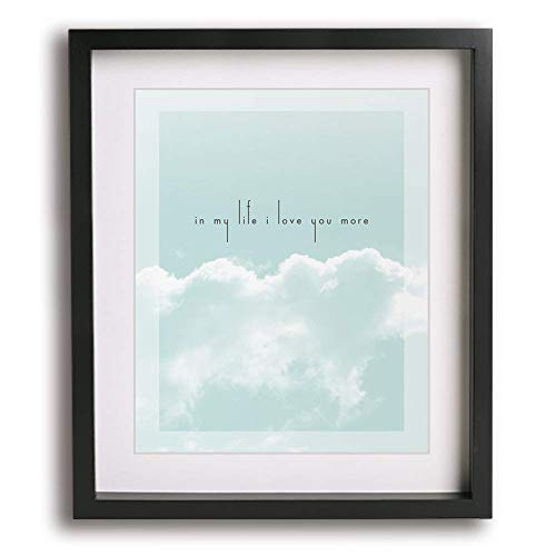 In My Life by The Beatles inspired wedding song lyric wall art print, romantic Valentine's Day or first paper anniversary gift idea