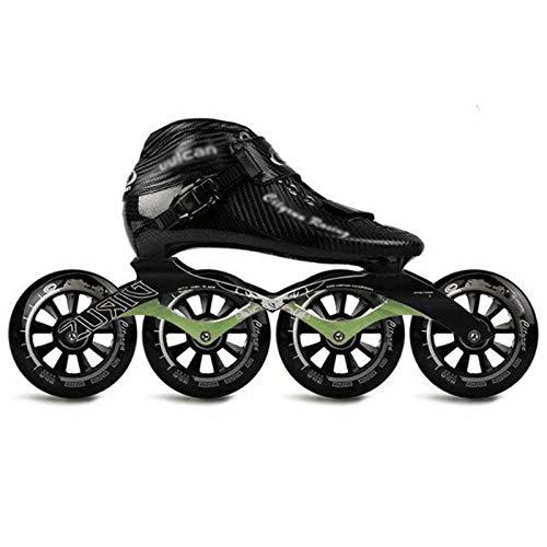 Rollschuhe - Professionelle Rennen für Kinder und Erwachsene Inline-Rollschuhe Leistung Komfortable thermoplastische Carbon-Rollschuhe aus Kohlefaser