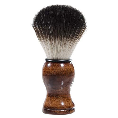 Decdeal シェービングブラシ ひげブラシ かみそりブラシ 洗顔ブラシ 理容 洗顔 髭剃り 泡立ち シェービングツール 高級感 メンズ プレゼント ハンドル付き