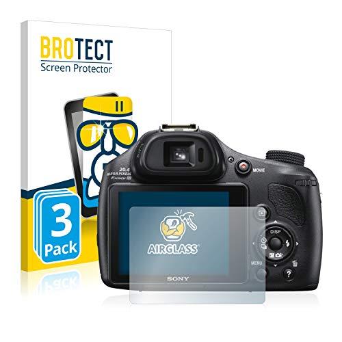 brotect Pellicola Protettiva Vetro Compatibile con Sony Cyber-Shot DSC-HX400V (3 Pezzi) Schermo Protezione, Estrema Durezza 9H, Anti-Impronte