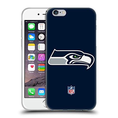 Head Case Designs Offizielle NFL Einfarbig Seattle Seahawks Logo Soft Gel Huelle kompatibel mit iPhone 6 / iPhone 6s