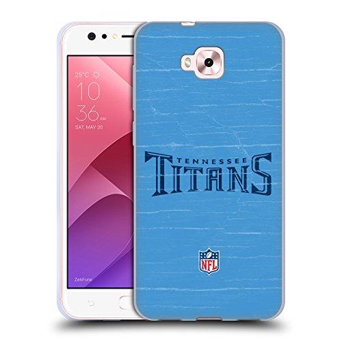 Head Case Designs Oficial NFL Aspecto Envejecido Logotipo de Titanes de Tennessee Carcasa de Gel de Silicona Compatible con Zenfone 4 Selfie ZD553KL