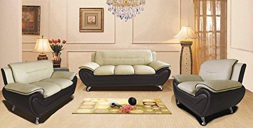 Container Furniture Direct Michael Living Room Set Camel/Black