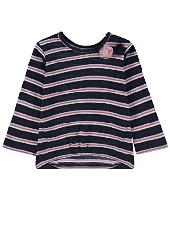 TOM TAILOR Kids T- Shirt Striped, Bleu (Black Iris|Blue 3800), 68 Bébé Fille