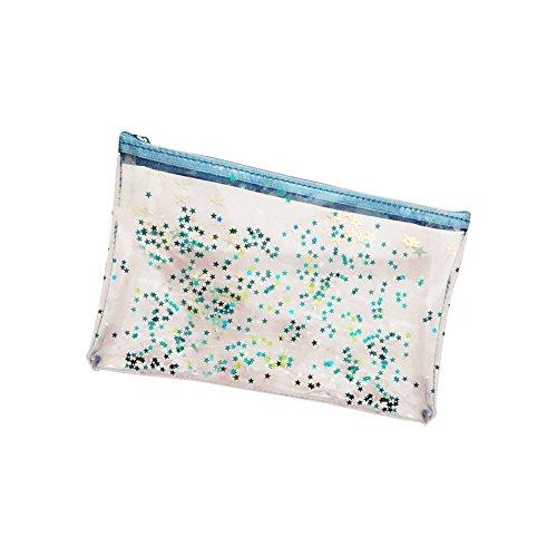 LAAT Sequins Transparent Porte-Cartes de crédit Sac à Main de Monnaie Sac cosmétiques Sac de Rangement Étui à Papeterie