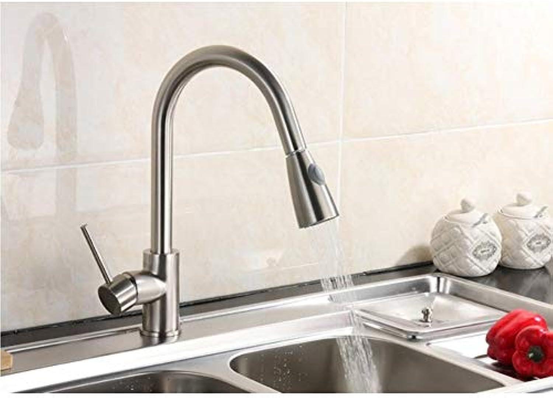 Lddpl Neu Eingetroffene Herausziehbare Küchenarmatur Chrom-   Nickel-   Quarzstein Wirken Wie Sink Mixer Tap 360-Grad-Rotations-Küchenmischer