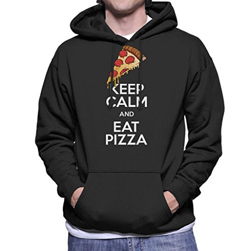 Cloud City 7 Keep Calm and Eat Pizza Heren Hooded Sweatshirt
