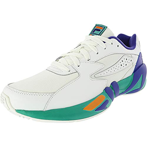 Fila Mens Mindblower Leather Low Top Lace Up Running, Wht/Royb/Glke, Size 12.0