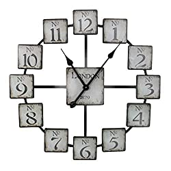 HomeRoots Classic and Uniquely Designed Metal Wall Clock