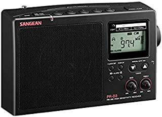 PRD3B SANGEAN Black - FM/AM Long Range Radio Fringe Reception Sangean PLL Tuning, Long Distance Mw Reception