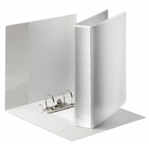 Esselte Panorama Ordner, Zur individuellen Gestaltung, 3 Außentaschen, A4, 6 cm Rückenbreite, Weiß, 19176