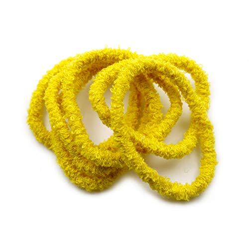 rougecaramel - Lot de 10 élastiques cheveux éponge jaune
