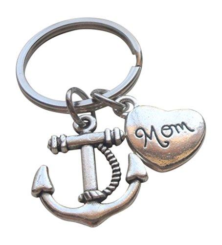 Preisvergleich Produktbild JewelryEveryday Mutter Anker Schlüsselanhänger - You're the Anchor in My Life du bist der Anker in meinem Leben; Mother es Geschenk Schlüsselanhänger