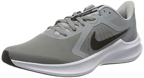 Nike Herren Downshifter 10 Laufschuh, Particle Grey/Black-Grey Fog-White, 41 EU
