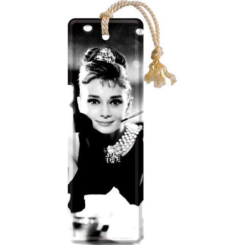 Nostalgic-Art 45005 Celebrities - Audrey - Holly Golightly, Lesezeichen 5 x 15 cm