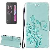 Accessoires de téléphone portable Pour Sony Xperia XA Ultra Fleurs Gaufrage Horizontal Flip Housse...