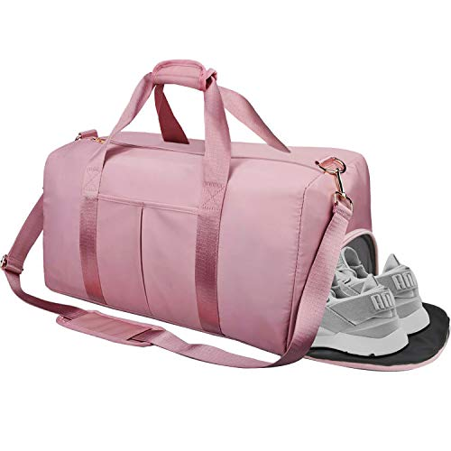 AISPARKY Lanling Gym Sport Bag Dry Wet Separated, Waterproof Large Sports Duffel Bag Training Handbag with Shoes Compartment for Sport Traveling Swimming Yoga Hiking Camping for Women