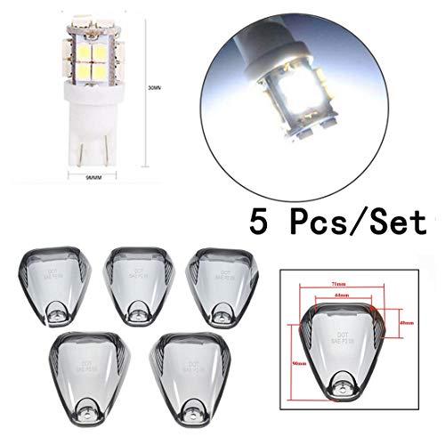 GOFORJUMP Couverture de marqueur de Cabine de lumières de Toit de 5 fumées + Ampoules Blanches du xénon LED du xénon pour pour F/ord