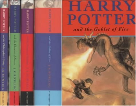 """Harry Potter Box Set: Includes """"Harry Potter and the Philosopher's Stone"""", """"Harry Potter and the Chamber of Secrets"""", """"Harry Potter and the Prisoner ... and """"Harry Potter and the Goblet of Fire"""""""