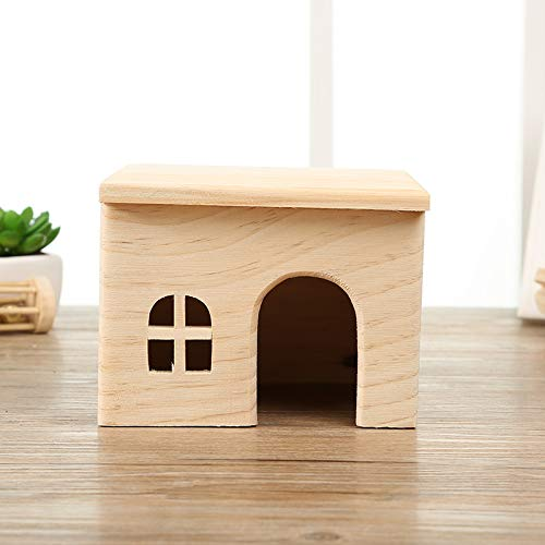 Willlly Hérisson Maison en Bois avec Sol avec fenêtres 3 étages pour Hiver/Hiver/Hamster, s, 15x14x11
