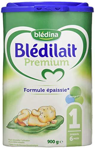 Blédina Blédilait Premium - Lait bébé 1er âge en poudre de 0 à 6 mois 900 g - Lot de 3