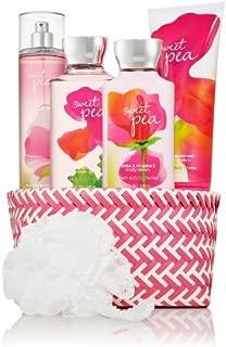 Bath & Body Works Sweet Pea Iridescent Gift Kit - Shower Gel, Body Lotion, Body Cream & Fragrance Mist
