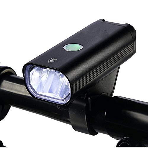 RYHTJN lumière de tête de Bicyclette Highlight LED Phare USB Rechargeable étanche équitation Lights Mountain Bike Cycling Equipment Accessoires, Noir