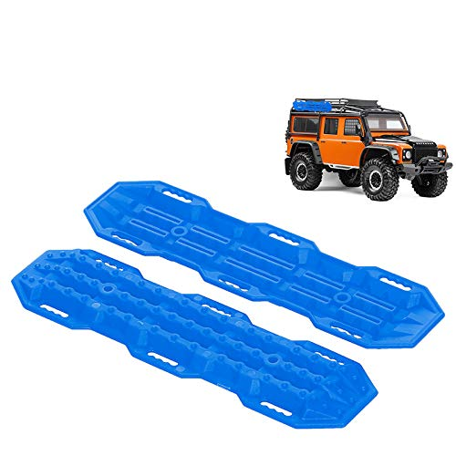 Facibom 2Pcs Plastic Sand Ladder Recovery Ramps Board for 1:10 RC Crawler Axial SCX10 CC01 -4 D90 MST CFX,Orange