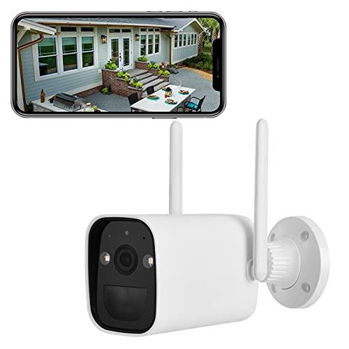 KISEDAR 1080P Akku Überwachungskamera Aussen, Batteriebetrieben Kabellos Outdoor WLAN IP Kamera mit PIR Bewegungsmelder, Nachtsicht, Zwei Wege Audio, IP66 Wasserdich, SD Storage, Push Alarme