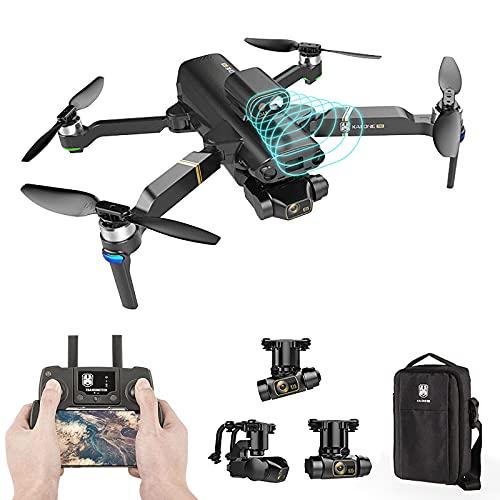 8K UHD 3-Axis Gimbal GPS Drone, OAS. Evitamento ad ostacoli laser, motore brushless e batteria doppia, 5G WiFi FPV Video in diretta RC Quadcopter per bambini adulti, distanza di controllo 1200m