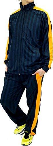 Skkone Men's Tracksuit Track Jacket and Pants 2 Piece Set (Medium, Navy/Orange)