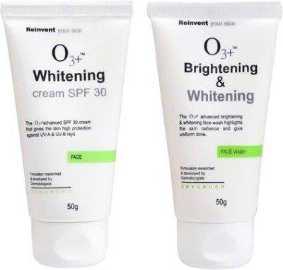 O3 + Nettoyant visage éclaircissant et blanchissant – SPF 30 combo no 1 (lot de 2)