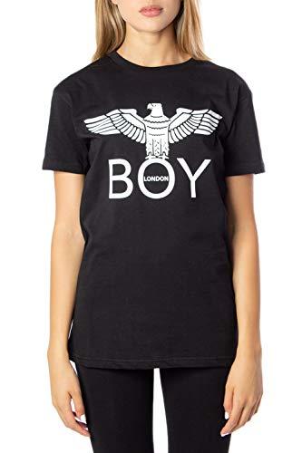 Boy London T-Shirt Donna Jersey g/c m/m con Stampa bld2045 m Nero