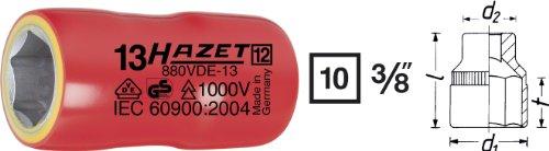 Hazet 880VDE-9 Douille carré creux 10 mm/profil traction à 6 pans extérieurs Taille 9 longueur 40 mm